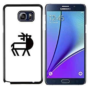 EJOOY---Cubierta de la caja de protección para la piel dura ** Samsung Galaxy Note 5 5th N9200 ** --Línea de Ciervo