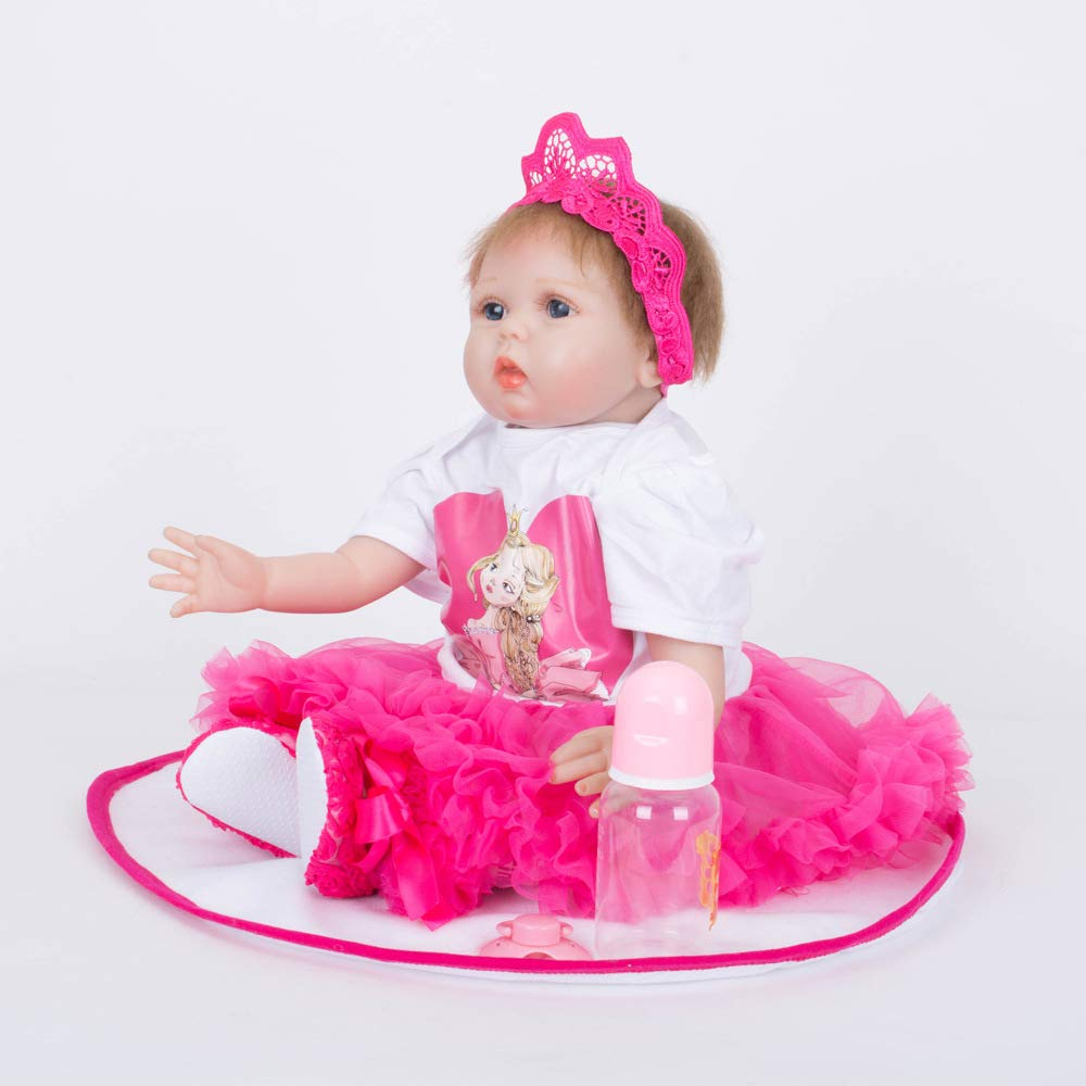 mejor vendido ZMH 22 Pulgadas Muñeca Reborn Juguetes Blandos 55 Cm Cm Cm Silicona Reborn Bebés Niñas Jugar Juguetes De Casa Muñeca Realista Santa Recién Nacido  para barato