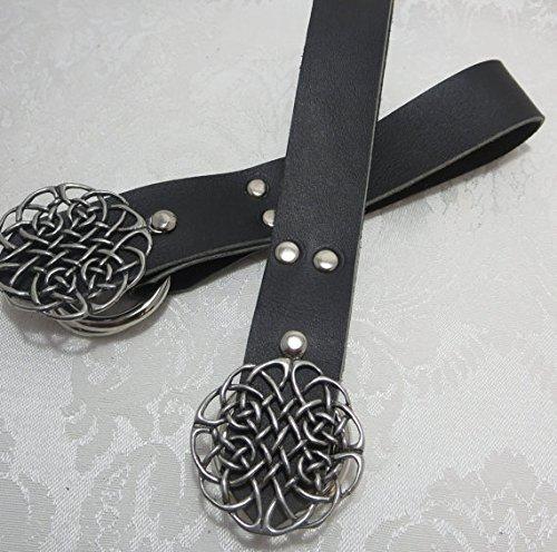 Handmade Black Leather Celtic Knot Skirt Hikes Set of 2
