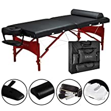 """Master Massage 30"""" Roma LX PORTABLE Massage Table with FREE Accessories, Black"""
