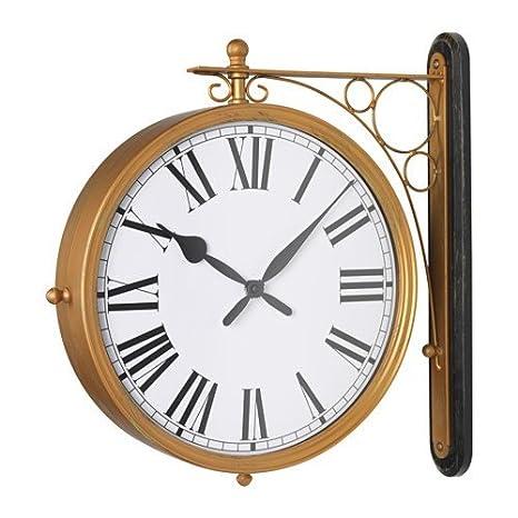 Ikea kladdis Reloj de pared en latón; Doble Cara; (30 cm)
