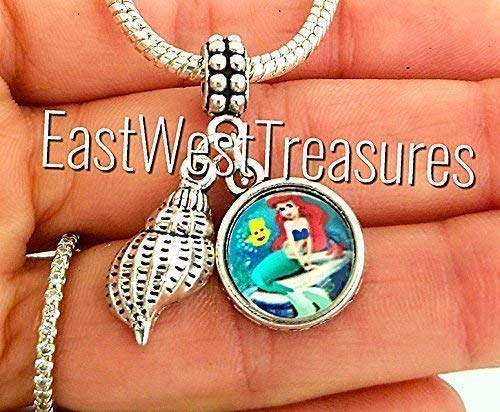 (The Little Mermaid Charms -for charm bracelets and chain necklaces-gift for girls women)