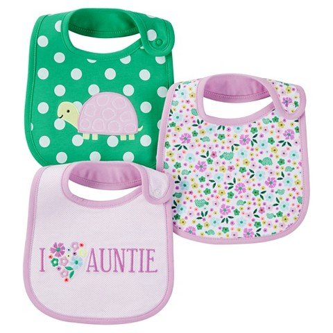 Just Carters Girls Turtle 3 Pack