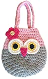 Sarah & Victoria Happy Owl Mini Purse, Adorable Pink & Grey First Handbag for Little Girls, 100%...
