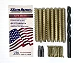 Door Repair Kit - Door Hinge Stripped Screw Hole Repair Kit, Gates, Locks, Latches, Hand Rails & More! Enhanced Door Security System by ZZem Screw - 8 Pack