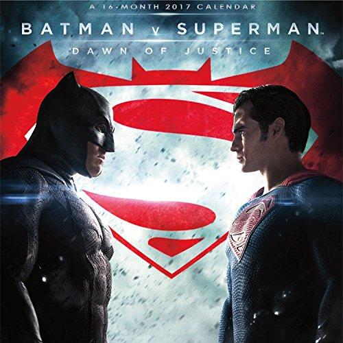 DC Comics Batman v Superman Mini Calendar 2017 -- Deluxe Batman v Superman Small Wall Calendar (7x7)