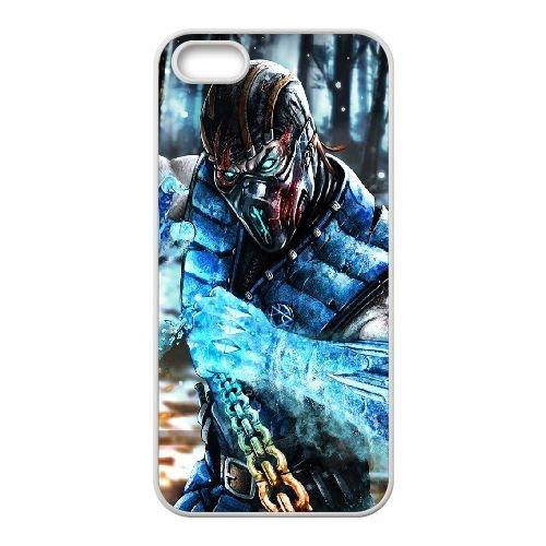 Sub Zero Mortal Kombat X Art Mortal Kombat coque iPhone 5 5s cellulaire cas coque de téléphone cas blanche couverture de téléphone portable EEECBCAAN05255