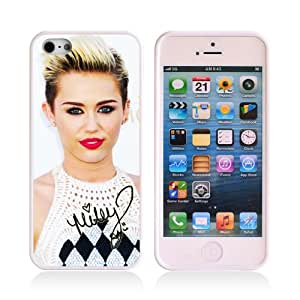 TPU Rubber Case Movie Star Singer Star Miley Cyrus Design iPhone 5 Cover Black Color iPhone 5s Case