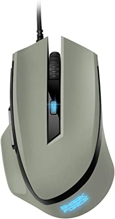 Sharkoon Shark Force II Ratón Gaming Gris USB Gaming Mouse