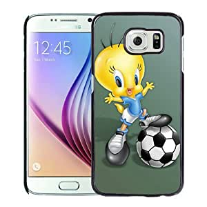 Popular Design cartoon tweety bird Black Special Custom Made Samsung Galaxy S6 G9200 Cover Case