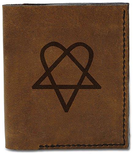 Wallet 04 Heartagram Genuine Handmade b Heartagrams 15 Leather MHLT Men's Natural wZCqHXxnU