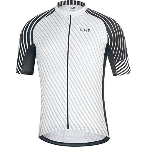 GORE WEAR C3 Men's Cycling Short Sleeve Shirt, L, White/Black