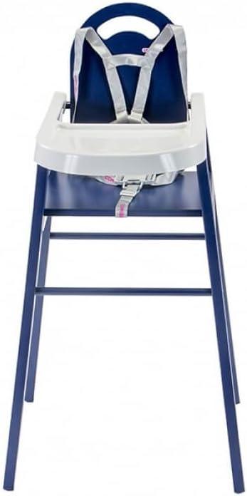 Chaise haute Lili laqu/é bleu Combelle