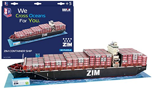 Daron Zim Container Ship 3D Puzzle (70-Piece) (Ship Zim)