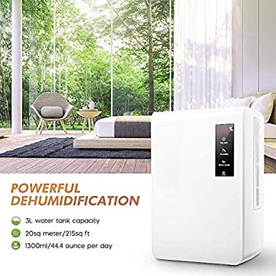 GGRYX 3L Deshumidificador Electrico, Deshumidificador Purificador ...