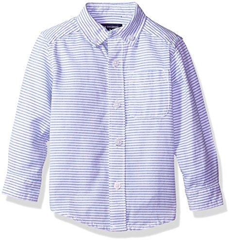 Boys Stripe Oxford - The Children's Place Baby Boys' Long Sleeve Oxford, Stripe, 2T