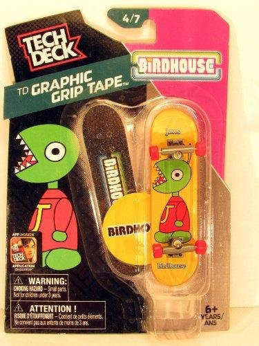 2014 Tech Deck TD Graphic Grip Tape Jaws Birdhouse Mini Finger Skateboard #4/7 with Display - Display Tech Deck