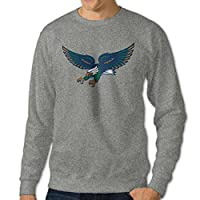 JJVAT Men's University Of North Texas Crew-Neck Sweater
