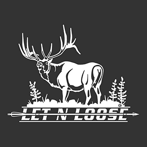 Let N Loose Elk Hunting Automotive Window - Elk Bugling Decal