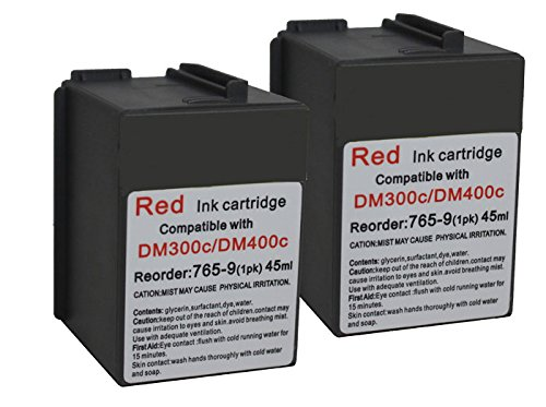Meter Postage (Pitney Bowes 765-9 Compatible Red Ink 2-PACK for DM300c, DM400c, DM450c Postage Meters)