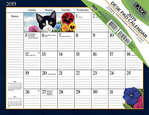 Lang American Cat 2019 Deskpad Office Desk Pad Calendar (19991010031) (Cat Desk Calendar)