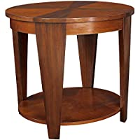 Hammary Oasis Oval End Table in Cherry/Walnut