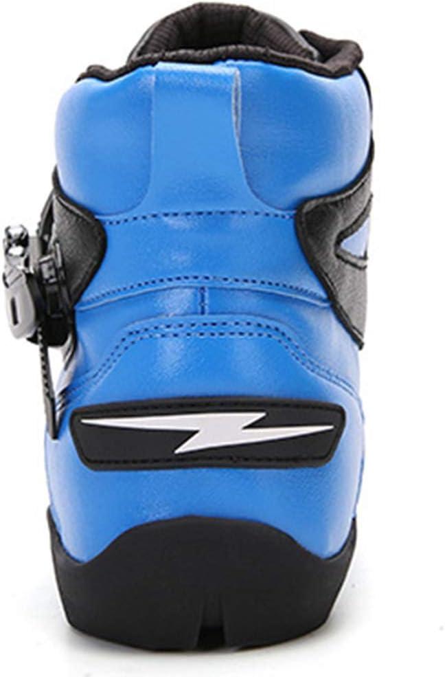 WERT Motorradstiefel Herren Racing R/üstung Heavy-Duty-Scooter On-Road Stiefel Anti Slip Short Kn/öchelschuhe wasserdichte Motorrad-Schuhe