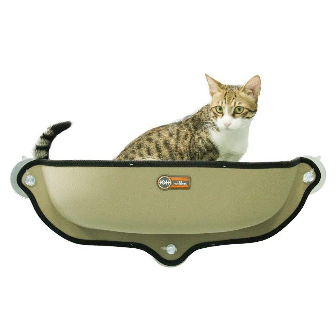 B Window Cat Bed Sunbathing Semi-Closed Deep Sleep Fossa Sunbathing Cat Mat Cat Hammock Cat Sunbathing + Daydreaming 68 × 28CM Can Bear 15KG