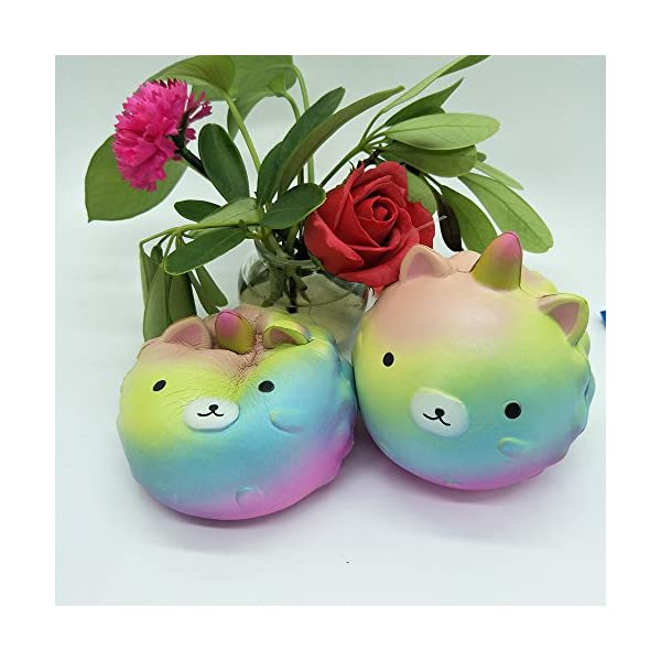 Anboor 4.3 Inches Squishies Unicorn Panda Jumbo Slow Rising Kawaii Scented Soft Colorful Animal Squishies Toys Color Random,1 Pcs 7