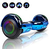 Felimoda 6.5'' Hoverboard for Kids and Adult Two-Wheel Self-Balancing Scooter- UL2272 Certificated, withColorful RGB Flash LED Lights