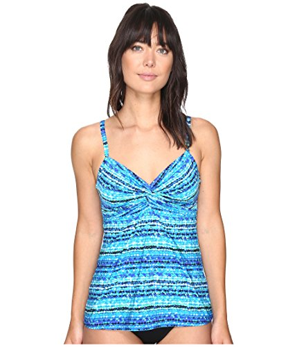 Miraclesuit Women's Night Lights Roswell Tankini Top Blue 8