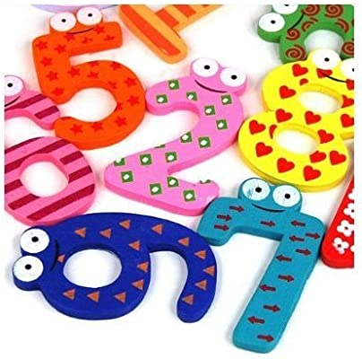 NiceButy Funky divertido colorido magnético números de madera ...