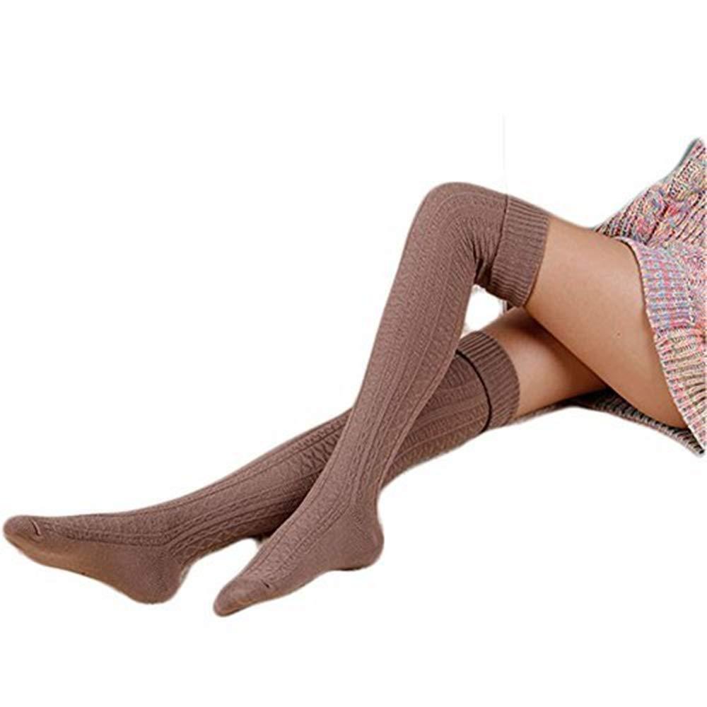 HITOP 1Coppia da Donna Sopra il ginocchio ueberknie Kniestruempfe ragazza Hold Up calze Retro allievo Knitting Calze sportive WZ-021