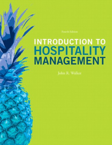 Introduction To Hospitality Management  4Th Edition