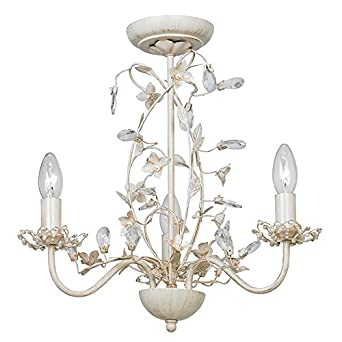 Endon lullaby 3 arm chandelier pendant light lullaby 3cr cream endon lullaby 3 arm chandelier pendant light lullaby 3cr cream gold amazon lighting mozeypictures Images