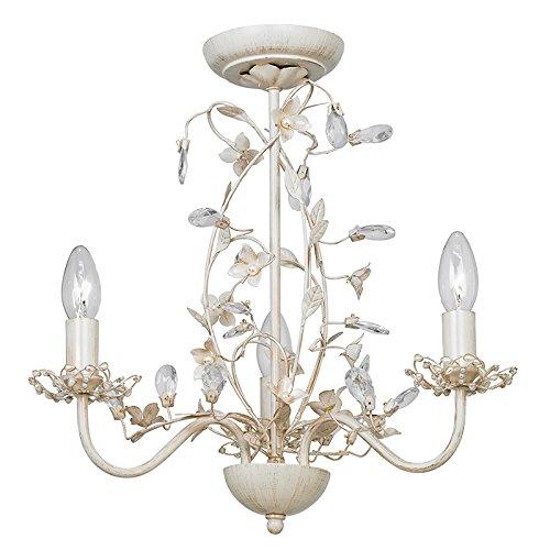 Endon lullaby 3 arm chandelier pendant light lullaby 3cr cream endon lullaby 3 arm chandelier pendant light lullaby 3cr cream gold mozeypictures Images