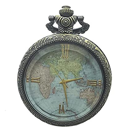 Sun Hero Vintage World Map Pattern Pendant Pocket Watch Watch ...