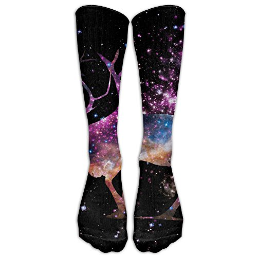 Fantasy Starry Sky Elk Compression Socks Football Socks Sports Stockings Long (Fantasy Custom Costumes Co)