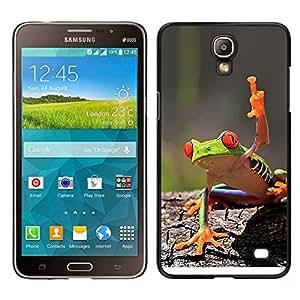 EJOY---Cubierta de la caja de protección para la piel dura ** Samsung Galaxy Mega 2 ** --Fresco de la rana verde de la selva de la criatura