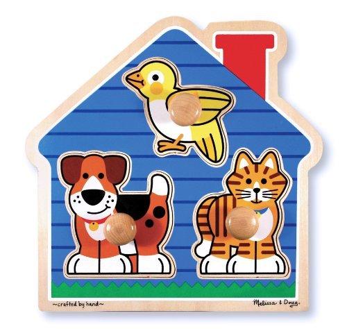 Doug Pets Peg Puzzle - Melissa & Doug House Pets Large Peg Puzzle