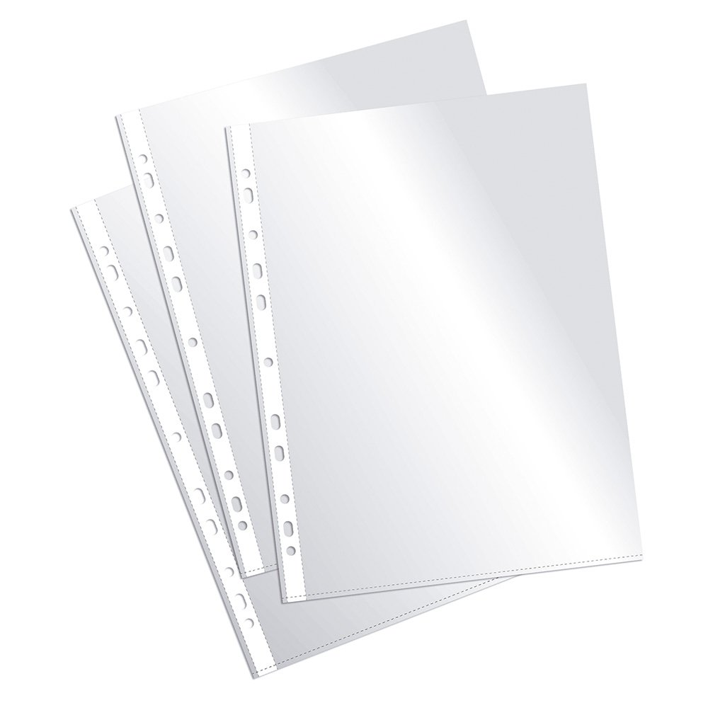 Plus Office EH303A-8/FC - Fundas multitaladro folio-cristal, 90 micras, 100 unidades, transparente product image