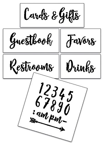 Wedding Stencil Words - For Guests - Rustic Script 6pc Jumbo Set - STCL1592_4 by StudioR12 by Studio R 12