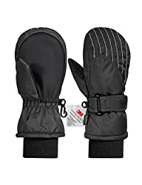Andake Kids Ski Mittens, Waterproof & Windproof Mittens,Great for 2-7 Years Old Kids