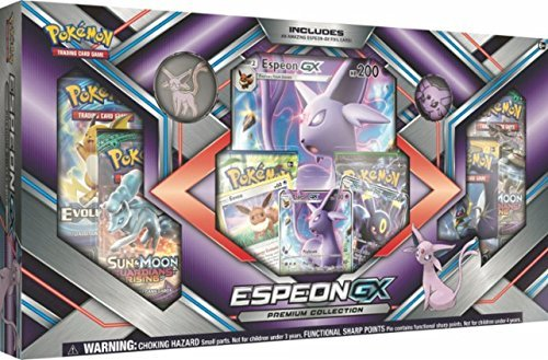 Pokemon TCG: Sun & Moon Guardians Rising Espeon-GX Premium GX Box Featuring A Collector's Pin And Coin