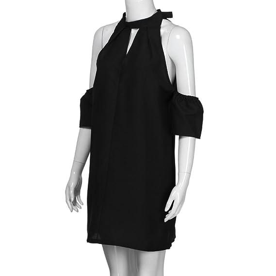 Witsaye Moda Abito casual da taschino a maniche lunghe da donna T-shirt da  sera da sera allentata Vestito Mini Abito Donna Elegante Casual Spiaggia  Dress ... 9f13cae22665