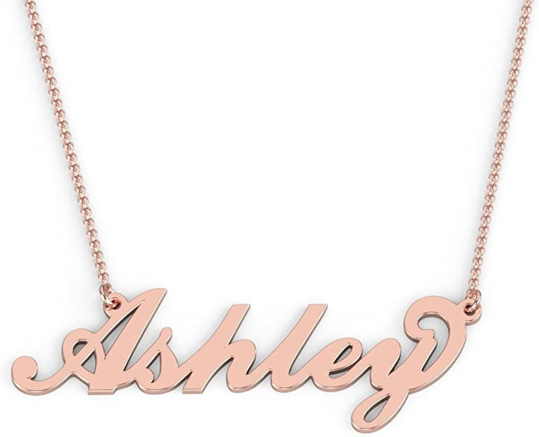 Custom Handmade Name Necklace 18K-14K GoldSilver Plated Personalized Jewelry with a Gift Box QN361