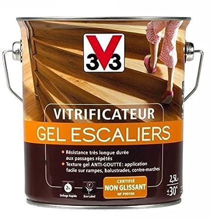 V33 Vitrificateur Gel Escalier Incolore Mat 2l5 Amazon Fr Bricolage
