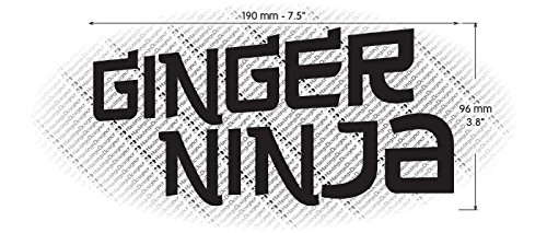 GINGER NINJA Funny Novelty Car/Van/Bumper/Window JDM DUB ...