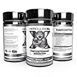 Hercules XL Premium Natural Testosterone Boosters Increase Strength - Focus - Stamina - Energy - Improve Gym Workouts (60 Caps)