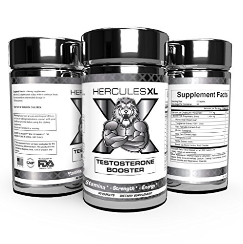 Hercules XL Premium Natural Testosterone Boosters Increase Strength – Focus – Stamina – Energy – Improve Gym Workouts (60 Caps) Review